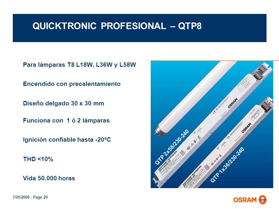 QUICKTRONIC PROFESIONAL – QTP8