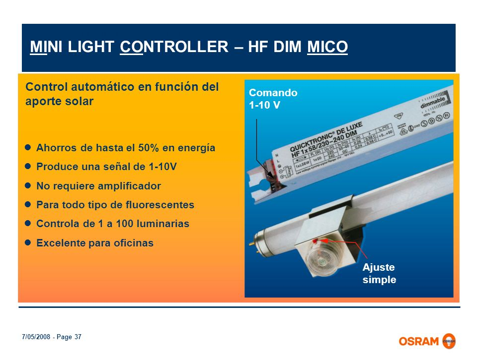 MINI LIGHT CONTROLLER – HF DIM MICO