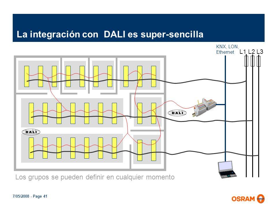 La integración con DALI es super-sencilla
