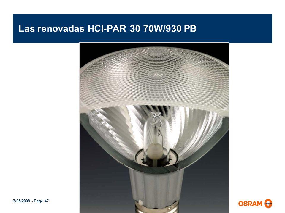 Las renovadas HCI-PAR 30 70W/930 PB