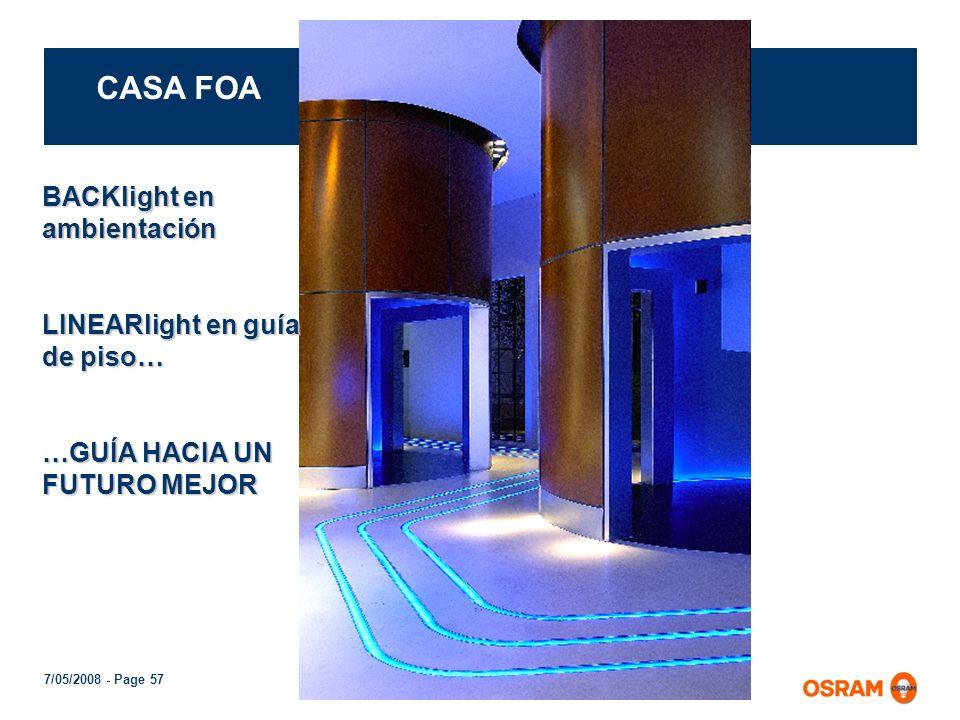 CASA FOA BACKlight en ambientación LINEARlight en guía de piso…