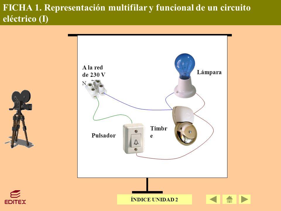 FICHA 1. Representación multifilar y funcional de un circuito eléctrico (I)
