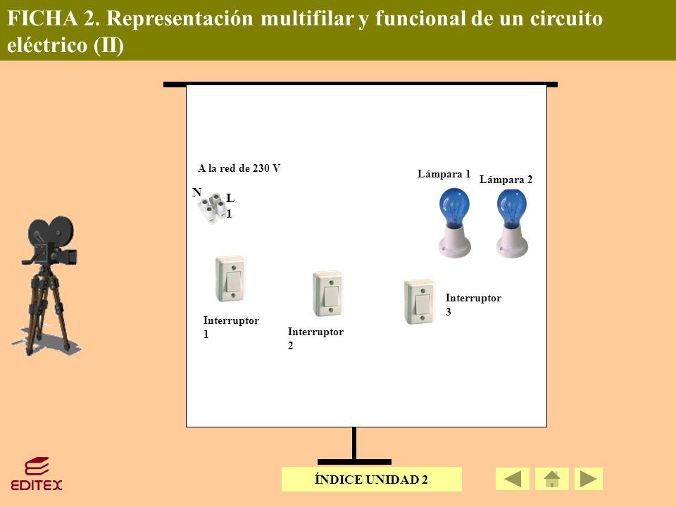 FICHA 2. Representación multifilar y funcional de un circuito eléctrico (II)