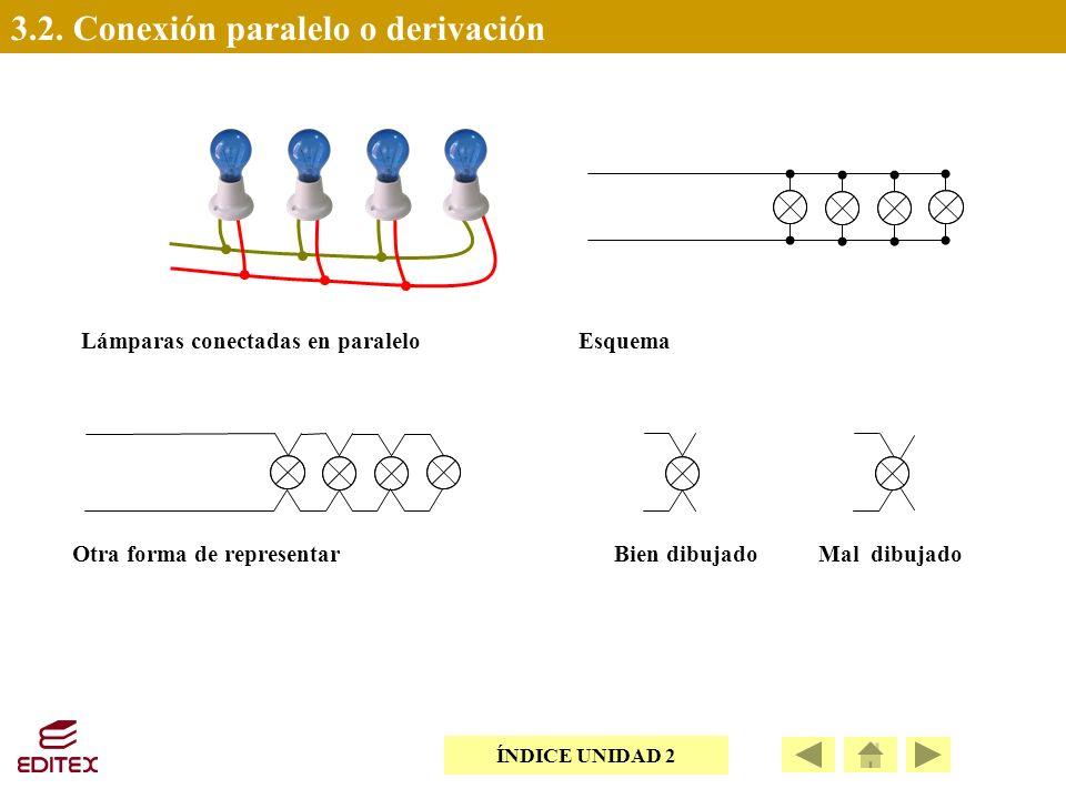 3.2. Conexión paralelo o derivación