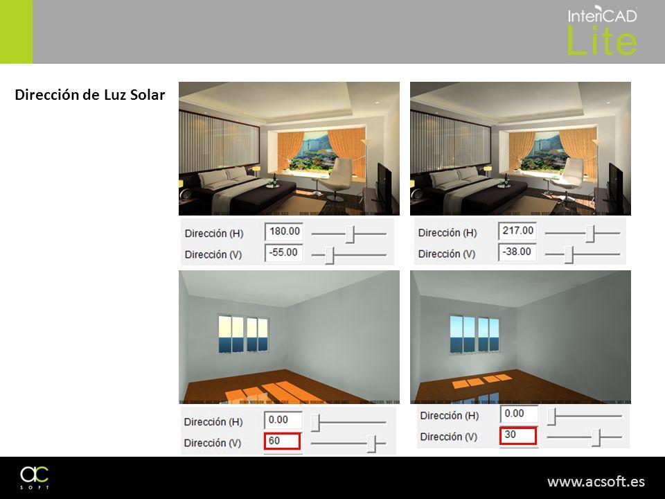 Dirección de Luz Solar www.acsoft.es