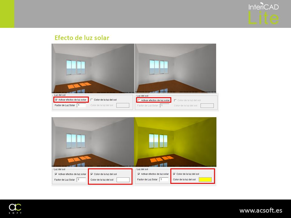 Efecto de luz solar www.acsoft.es