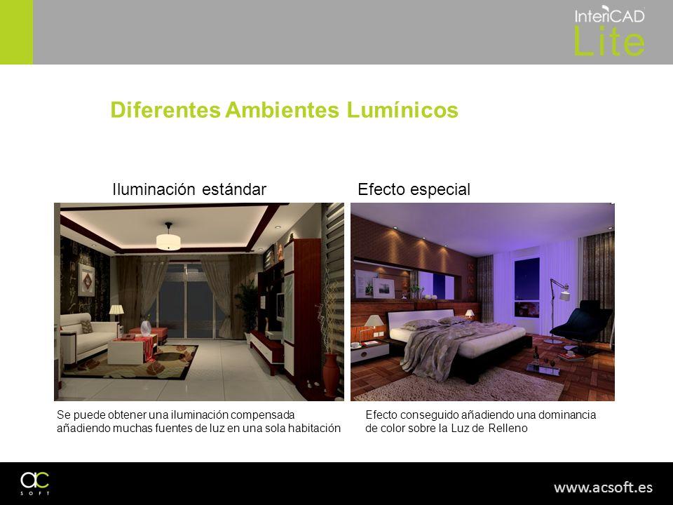 Diferentes Ambientes Lumínicos
