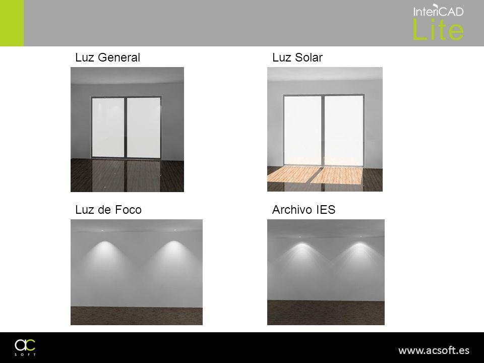 Luz General Luz Solar Luz de Foco Archivo IES www.acsoft.es