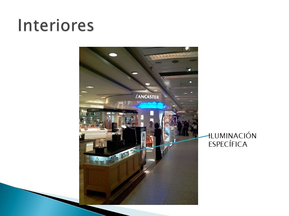 Interiores ILUMINACIÓN ESPECÍFICA