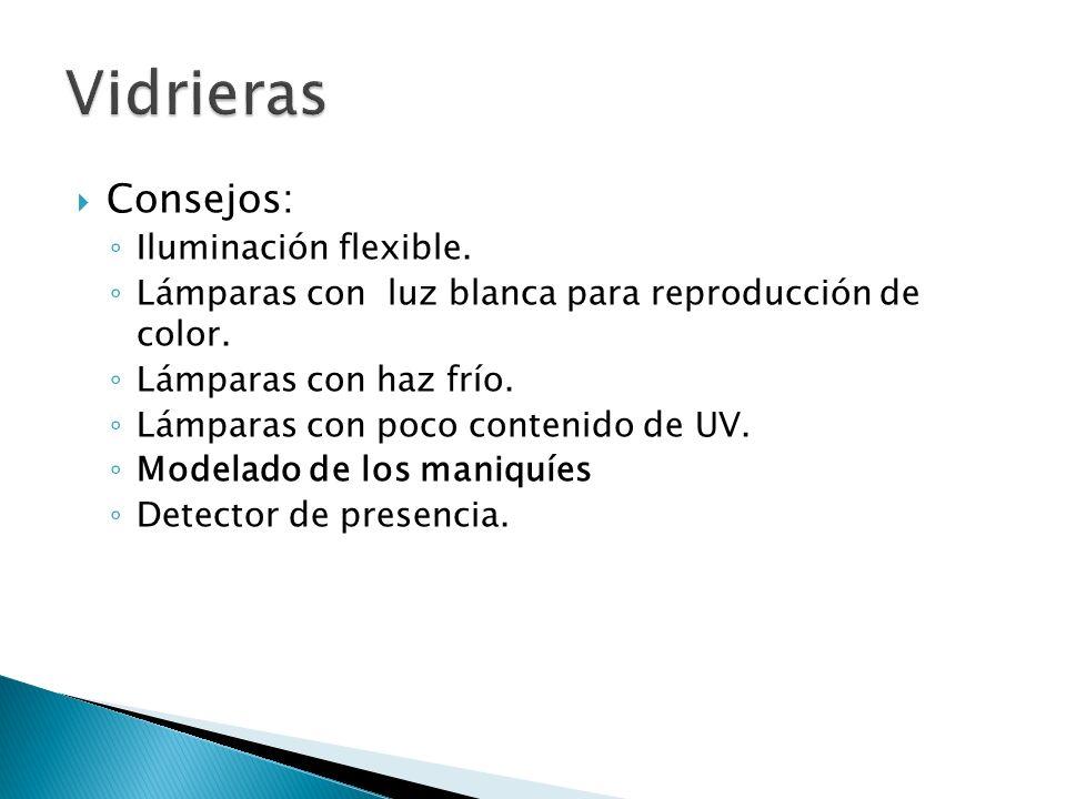 Vidrieras Consejos: Iluminación flexible.