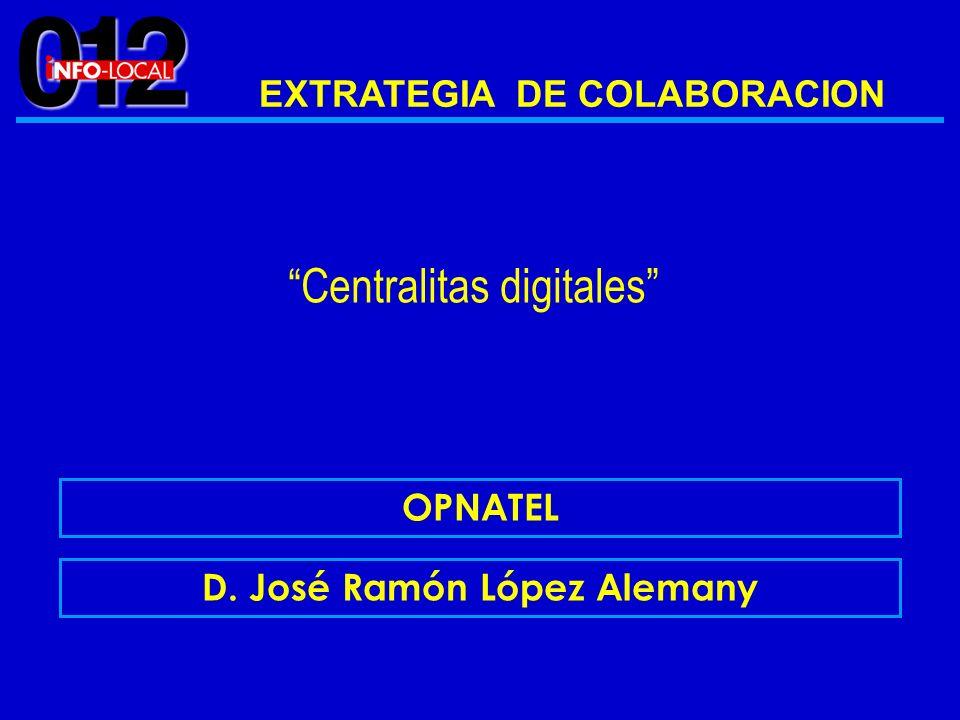 EXTRATEGIA DE COLABORACION D. José Ramón López Alemany
