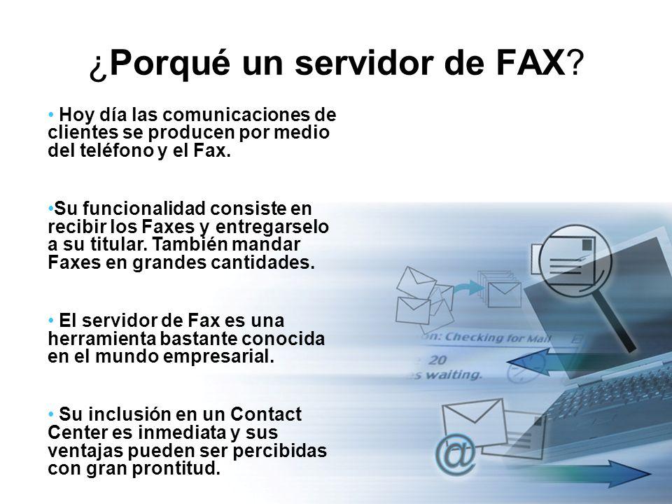 ¿Porqué un servidor de FAX