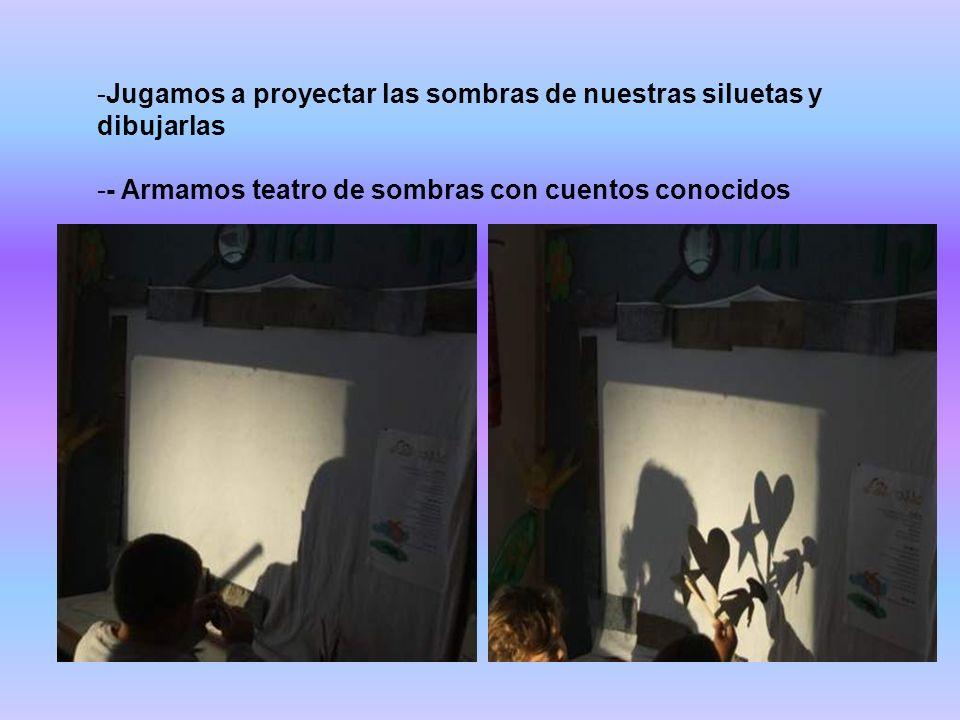 Jugamos a proyectar las sombras de nuestras siluetas y dibujarlas
