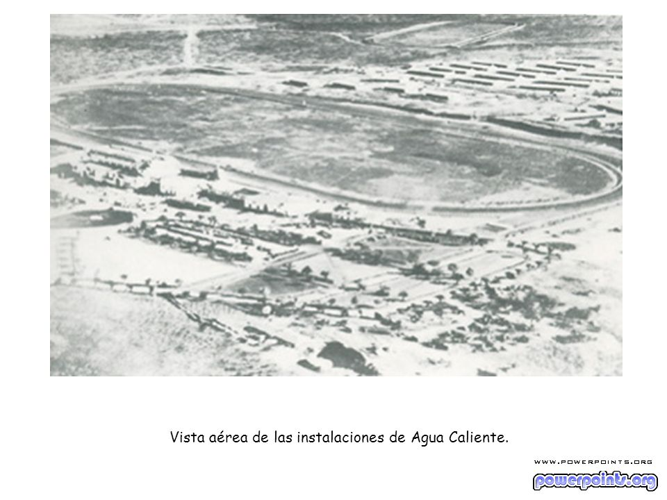 Vista aérea de las instalaciones de Agua Caliente.