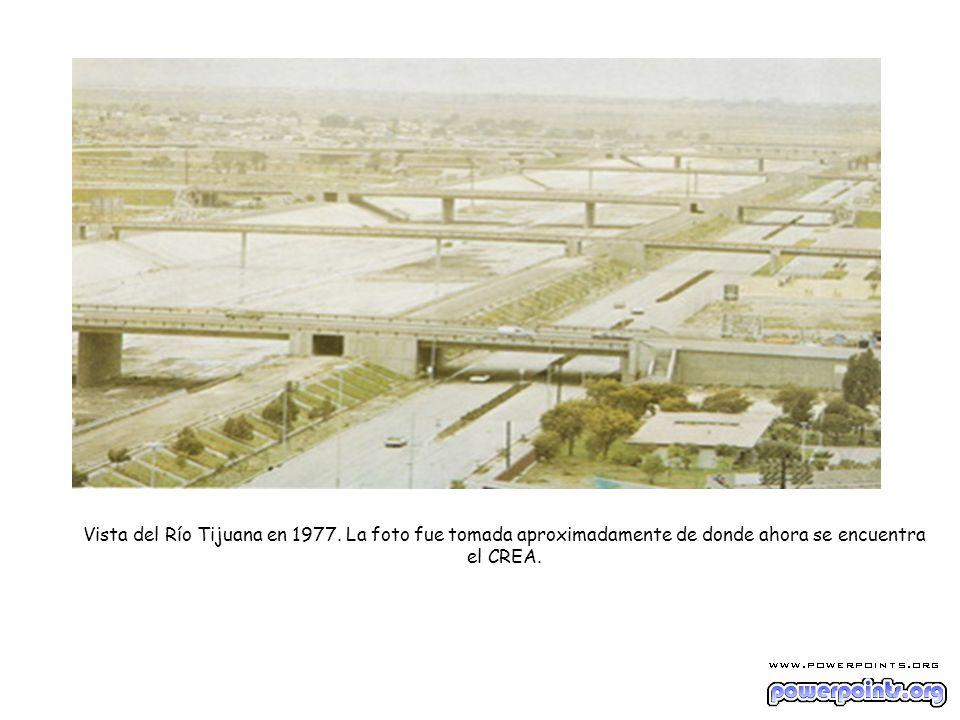 Vista del Río Tijuana en 1977