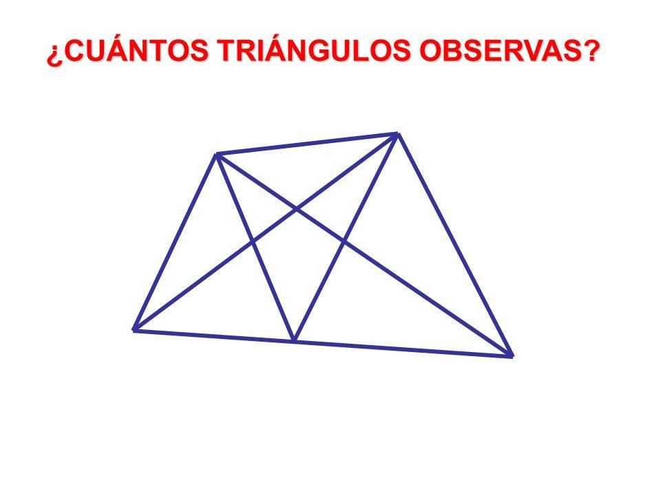 ¿CUÁNTOS TRIÁNGULOS OBSERVAS