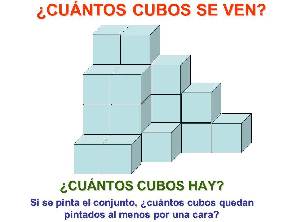 ¿CUÁNTOS CUBOS SE VEN ¿CUÁNTOS CUBOS HAY