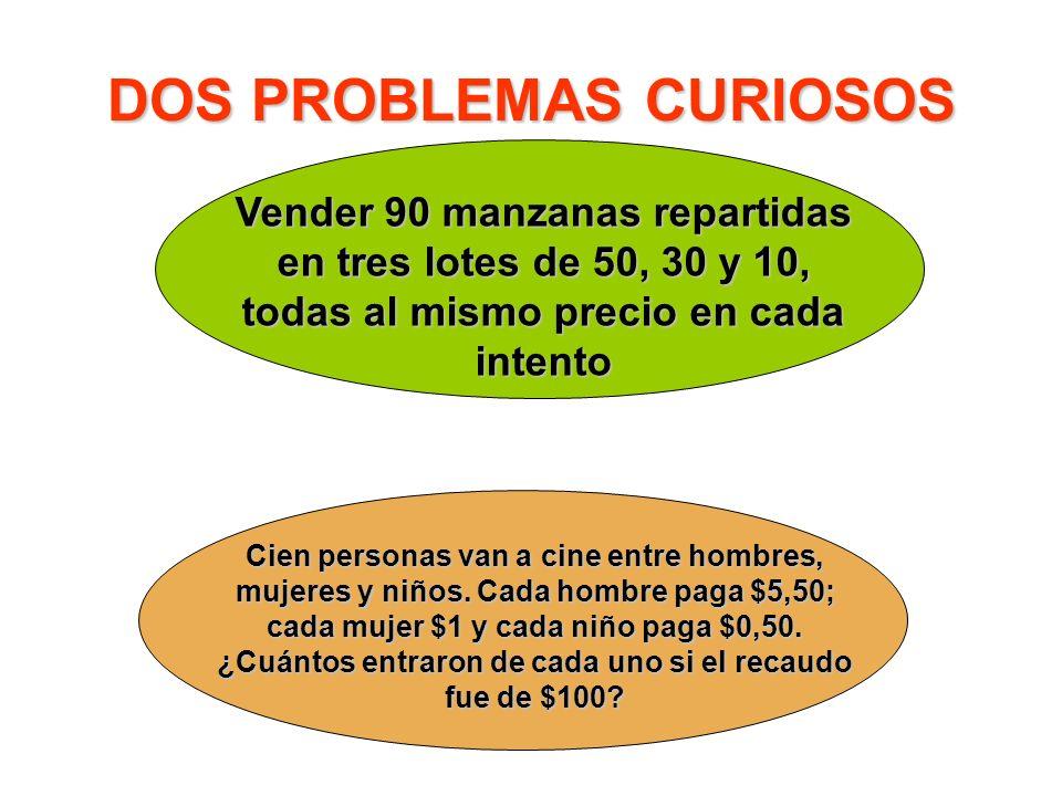 DOS PROBLEMAS CURIOSOS