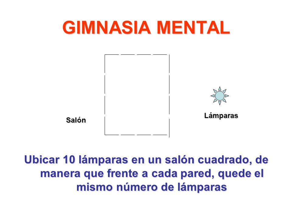 GIMNASIA MENTAL Lámparas. Salón.