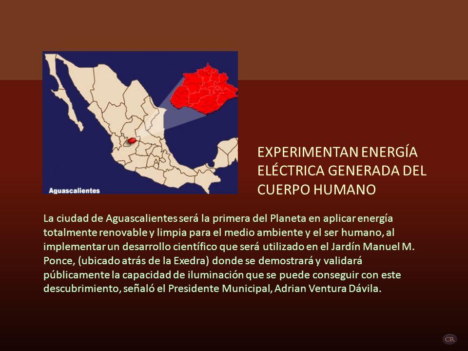 EXPERIMENTAN ENERGÍA ELÉCTRICA GENERADA DEL CUERPO HUMANO