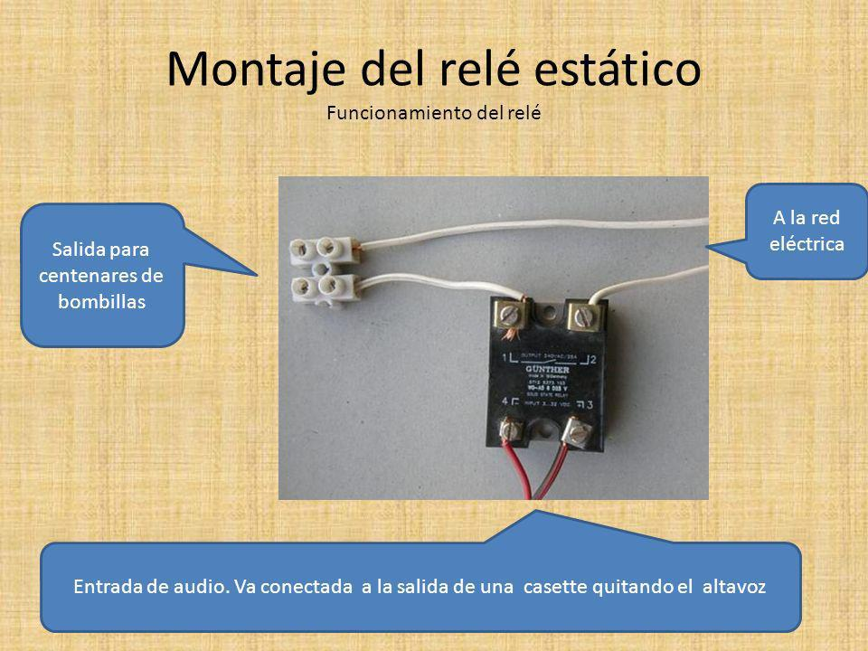 Montaje del relé estático Funcionamiento del relé