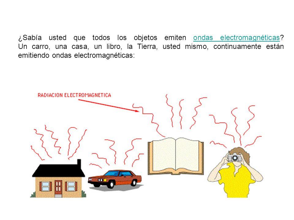 ¿Sabía usted que todos los objetos emiten ondas electromagnéticas