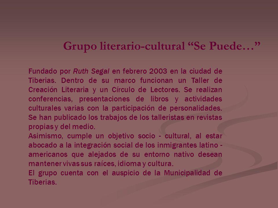 Grupo literario-cultural Se Puede…