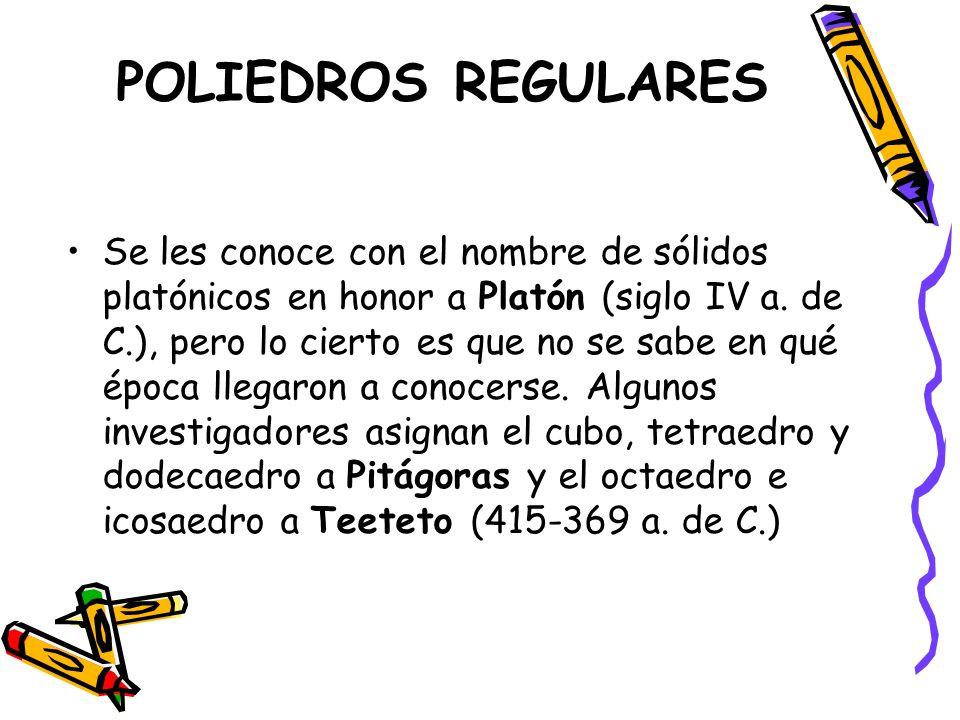 POLIEDROS REGULARES