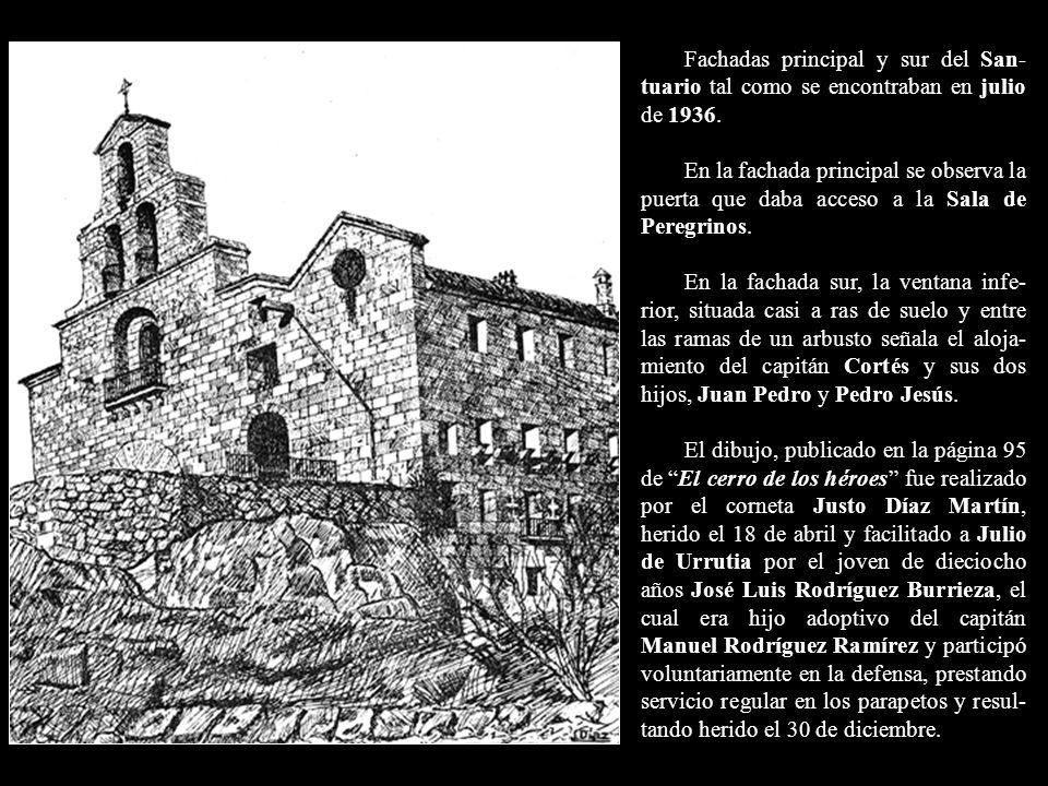Fachadas principal y sur del San-tuario tal como se encontraban en julio de 1936.