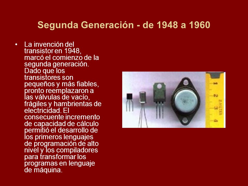 Segunda Generación - de 1948 a 1960