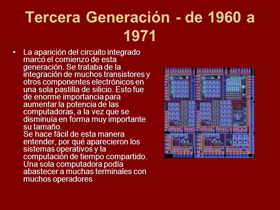 Tercera Generación - de 1960 a 1971
