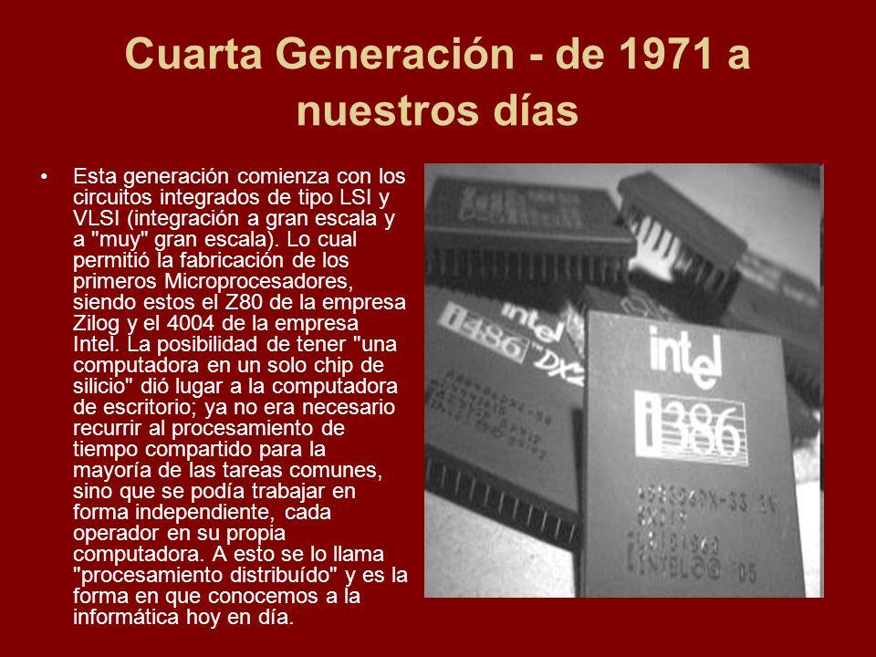 Cuarta Generación - de 1971 a nuestros días