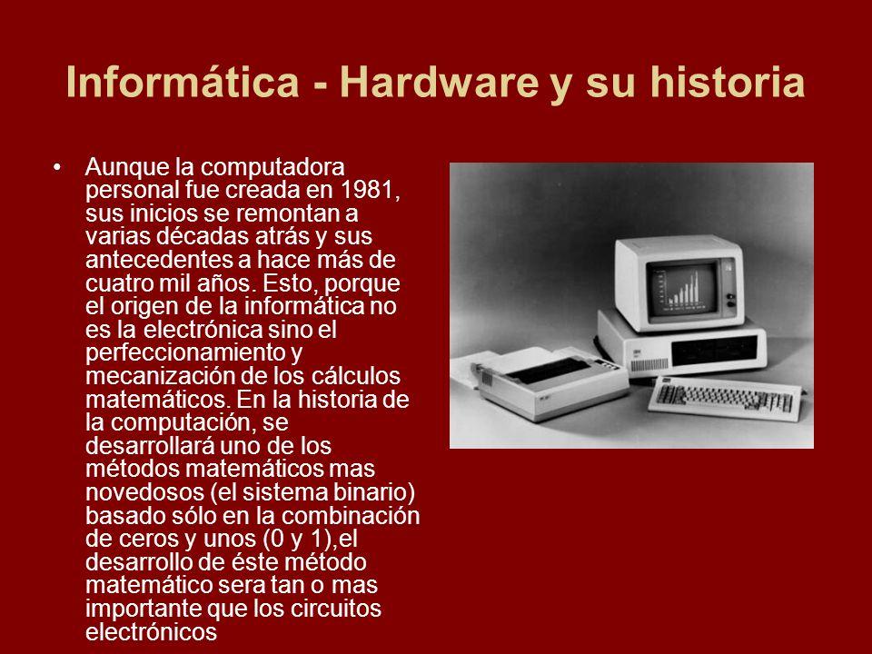 Informática - Hardware y su historia