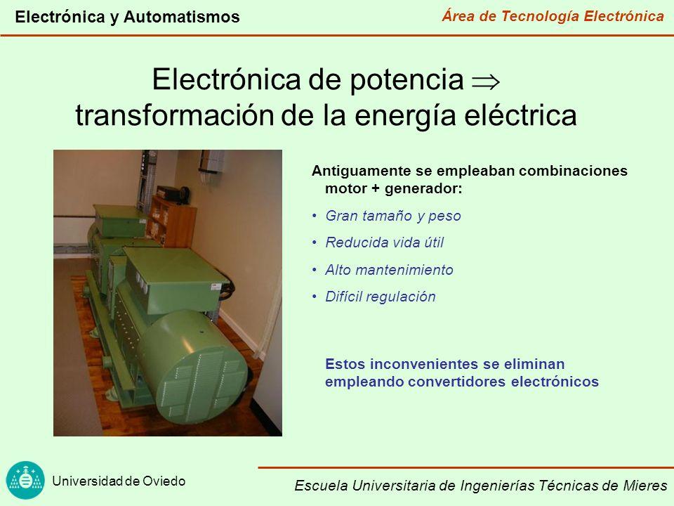 Electrónica de potencia  transformación de la energía eléctrica