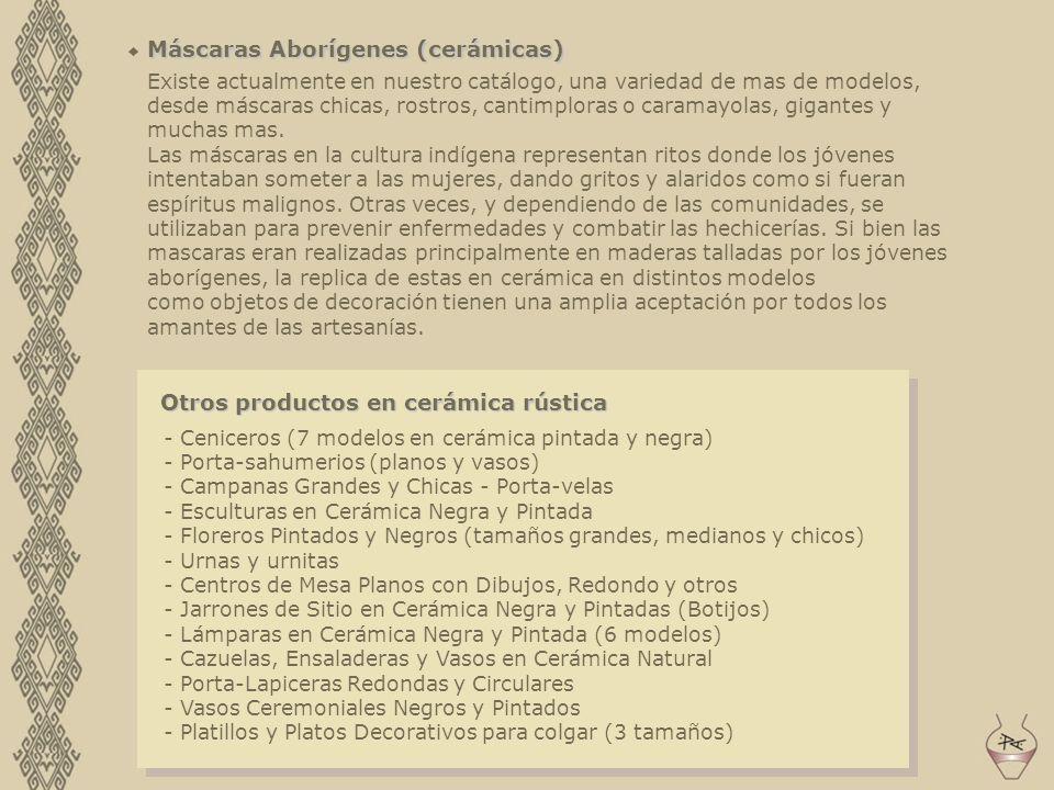 Máscaras Aborígenes (cerámicas)