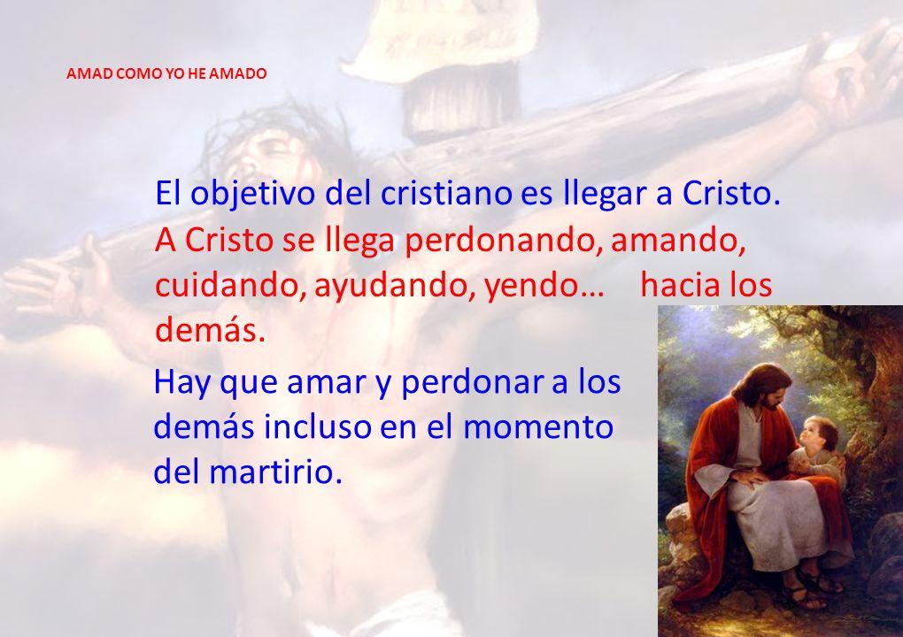 El objetivo del cristiano es llegar a Cristo.