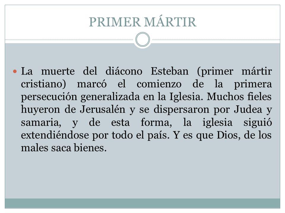 PRIMER MÁRTIR