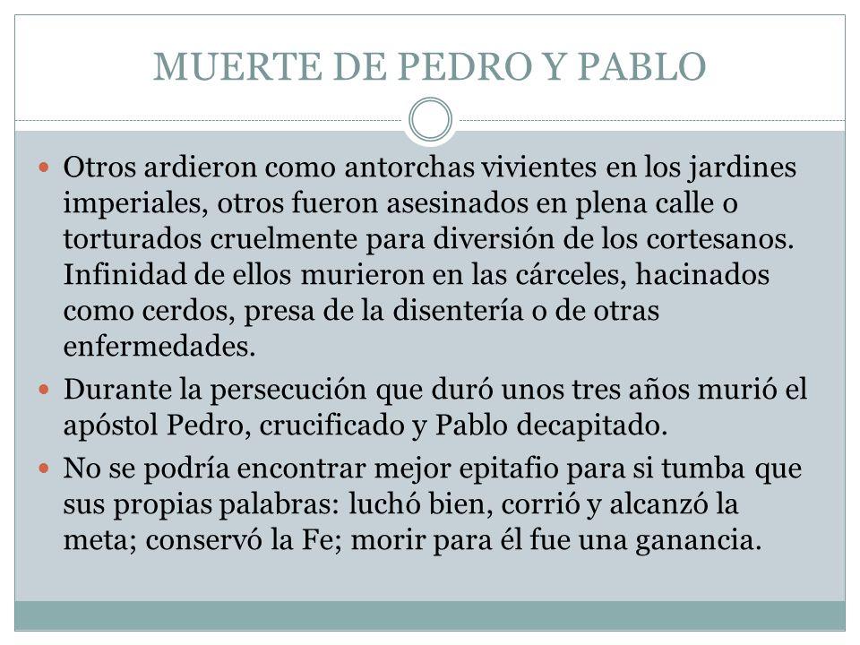 MUERTE DE PEDRO Y PABLO
