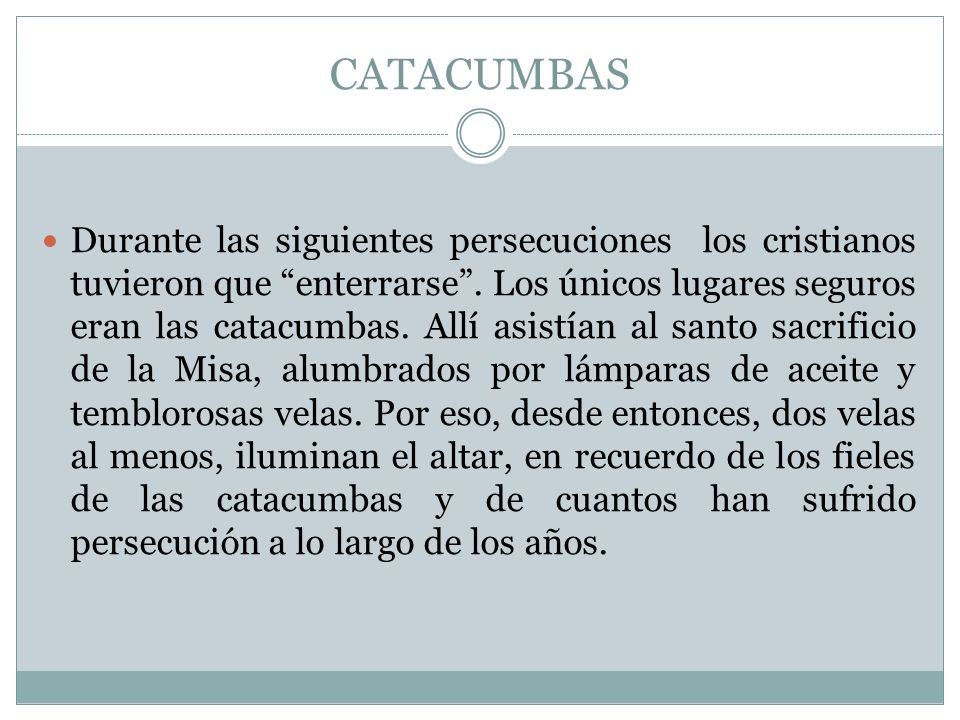 CATACUMBAS