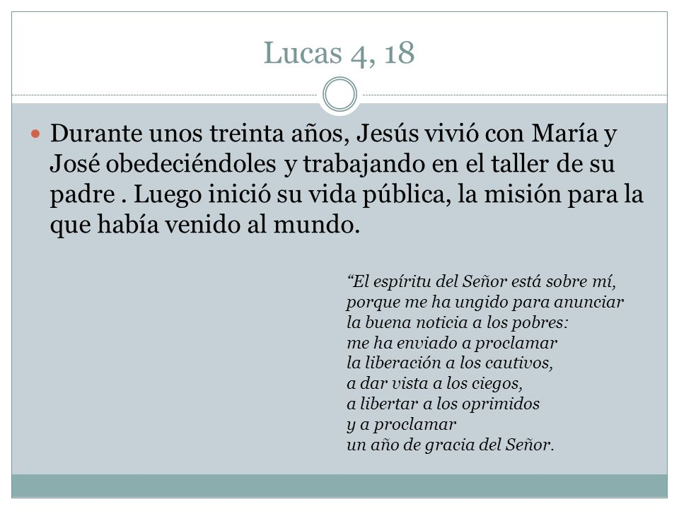Lucas 4, 18