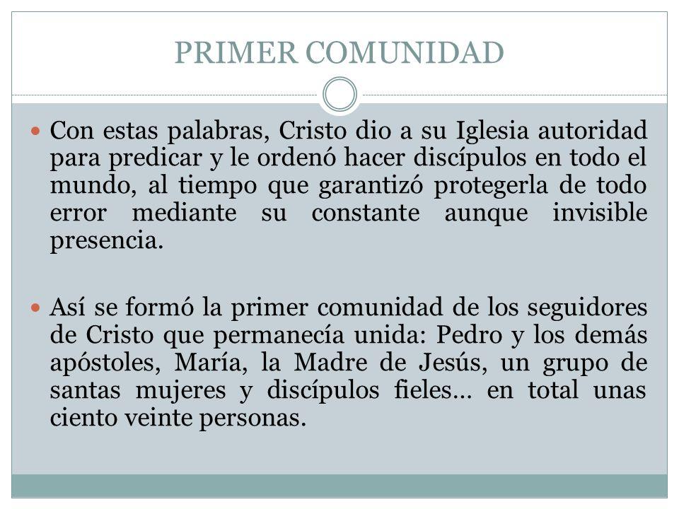 PRIMER COMUNIDAD