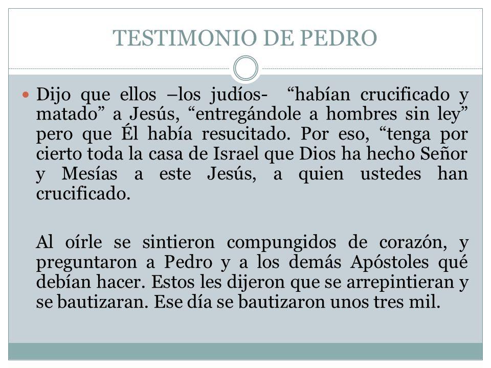TESTIMONIO DE PEDRO