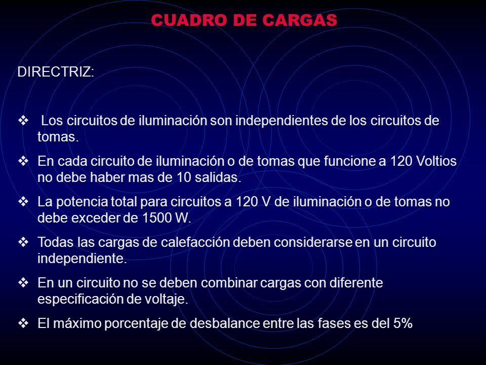 CUADRO DE CARGAS DIRECTRIZ:
