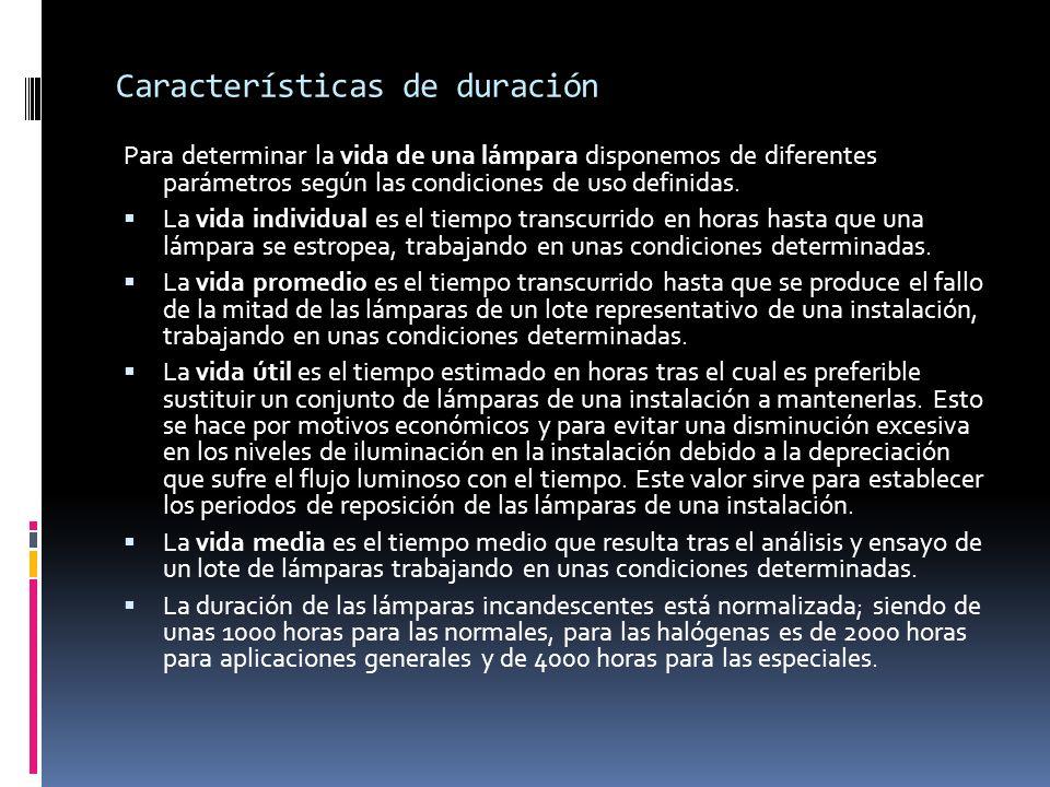 Características de duración