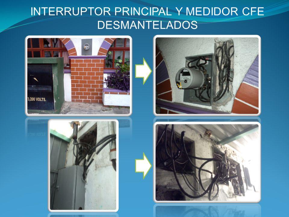 INTERRUPTOR PRINCIPAL Y MEDIDOR CFE