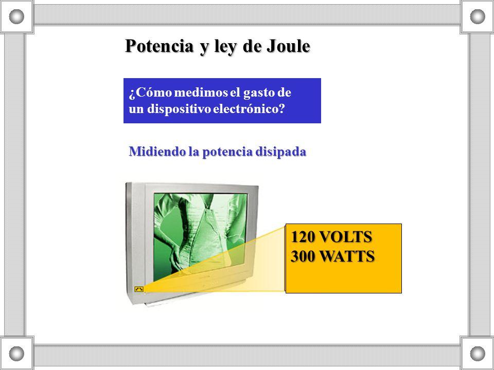 Potencia y ley de Joule 120 VOLTS 300 WATTS ¿Cómo medimos el gasto de
