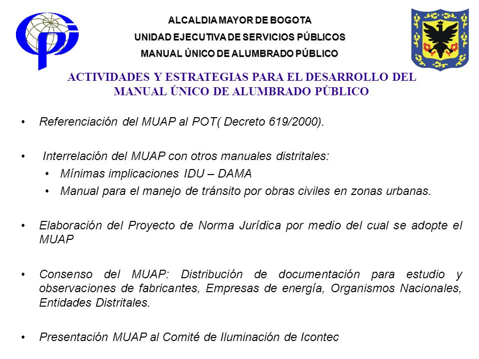 Referenciación del MUAP al POT( Decreto 619/2000).