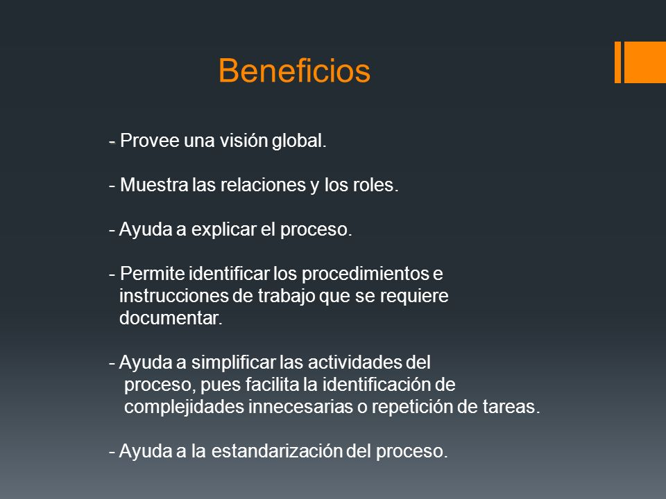 Beneficios - Provee una visión global