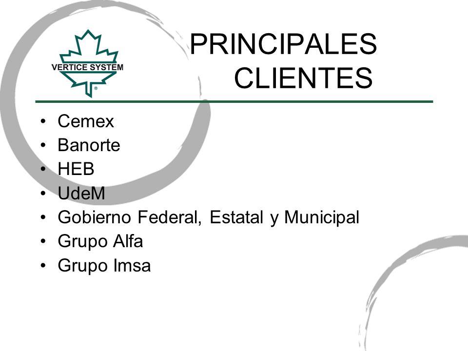 PRINCIPALES CLIENTES Cemex Banorte HEB UdeM