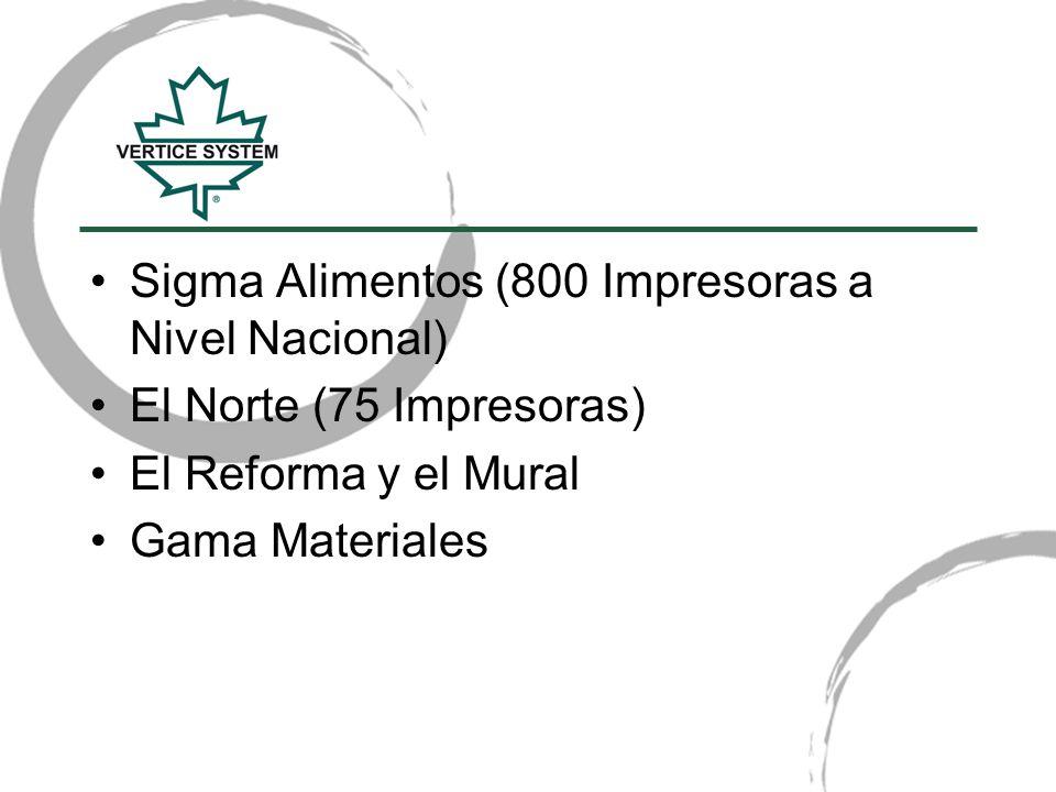 Sigma Alimentos (800 Impresoras a Nivel Nacional)